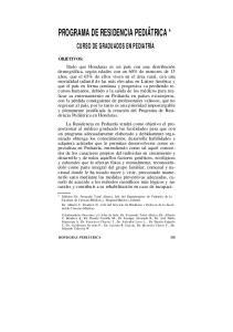 PROGRAMA DE RESIDENCIA PEDIÁTRICA *