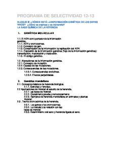 PROGRAMA DE SELECTIVIDAD 12-13