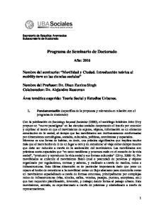 Programa de Seminario de Doctorado