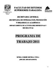 PROGRAMA DE TRABAJO 2011