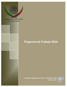 Programa de Trabajo 2016