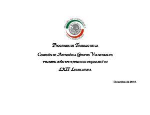 PROGRAMA DE TRABAJO DE LA