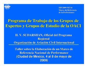 Programa de Trabajo de los Grupos de Expertos y Grupos de Estudio de la OACI