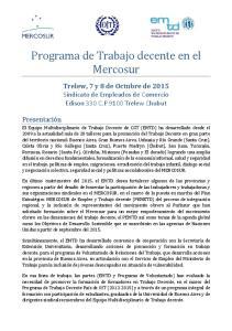 Programa de Trabajo decente en el Mercosur