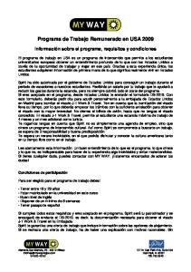 Programa de Trabajo Remunerado en USA 2009