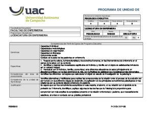 PROGRAMA DE UNIDAD DE APRENDIZAJE