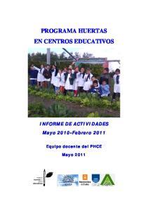 PROGRAMA HUERTAS EN CENTROS EDUCATIVOS