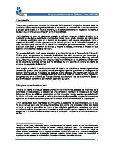 Programa Institucional de Mediano Plazo