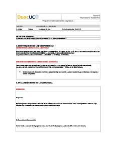 Programa Instruccional de Asignatura