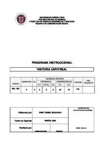 PROGRAMA INSTRUCCIONAL HISTORIA UNIVERSAL