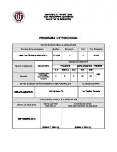 PROGRAMA INSTRUCCIONAL