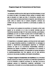 Programa Integral del Fortalecimiento del Bachillerato