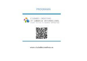 PROGRAMA IV CONGRESO INTERNACIONAL CIUDADES CREATIVAS