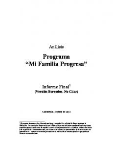 Programa Mi Familia Progresa