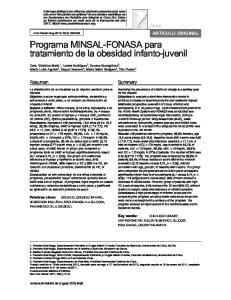 Programa MINSAL-FONASA para tratamiento de la obesidad infanto-juvenil