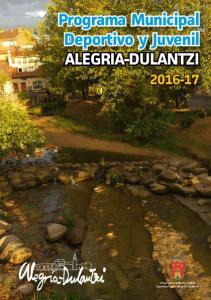 Programa Municipal Deportivo y Juvenil ALEGRIA-DULANTZI