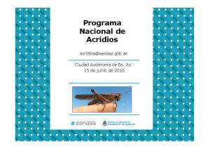Programa Nacional de Acridios