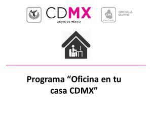 Programa Oficina en tu casa CDMX