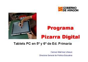 Programa Pizarra Digital