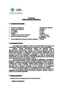 PROGRAMA PSICOLOGIA DEL DESARROLLO
