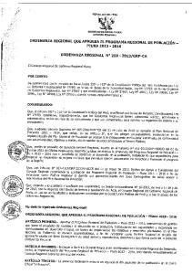 PROGRAMA REGIONAL DE POBLACION DE PIURA