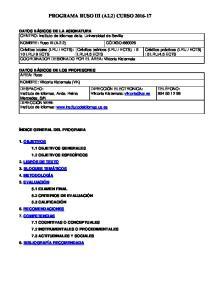 PROGRAMA RUSO III (A2.2) CURSO