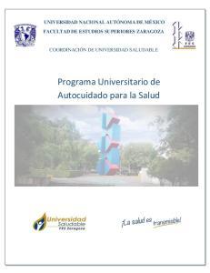 Programa Universitario de Autocuidado para la Salud