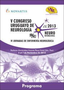 Programa V CONGRESO URUGUAYO DE NEUROLOGÍA NEURO IV JORNADAS DE ENFERMERÍA NEUROLÓGICA