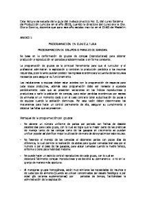 PROGRAMACION EN CUNICULTURA PROGRAMACION DE GRUPOS O MANEJO DE BANDAS