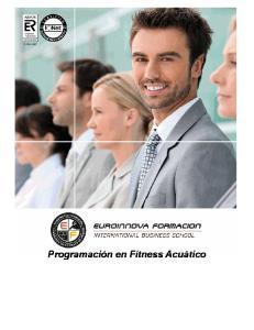 Programación en Fitness Acuático