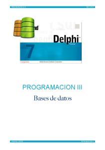 PROGRAMACION III Bases de datos