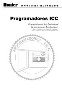 Programadores ICC REGULACION PORCENTAL PLUVIOMETRO PARADO MARCHA MARCHA MANUAL -- CICLO COMPLETO MARCHA MANUAL -- UNA ESTACION