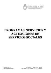PROGRAMAS, SERVICIOS Y ACTUACIONES DE SERVICIOS SOCIALES