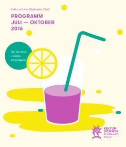 Programm Juli Oktober 2016