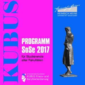 PROGRAMM SoSe für Studierende aller Fakultäten