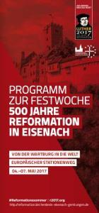 PROGRAMM ZUR FESTWOCHE 500 JAHRE REFORMATION IN EISENACH