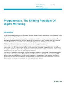 Programmatic: The Shifting Paradigm Of Digital Marketing