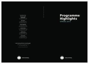 Programme Highlights SPRING 2013
