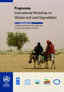 Programme International Workshop on Climate and Land Degradation