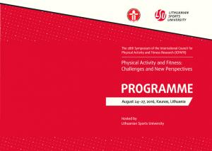 PROGRAMME. PHYSICAL ACTIVITY AND FITNESS: Challenges and New Perspectives