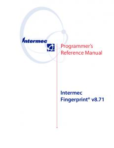 Programmer s Reference Manual. Intermec Fingerprint v8.71
