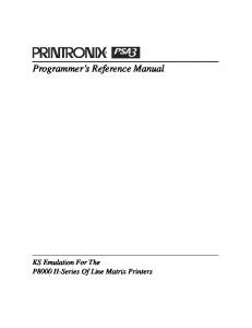 Programmer s Reference Manual