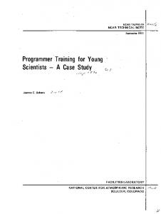 Programmer Training for Young