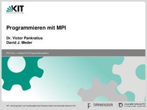 Programmieren mit MPI
