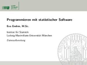 Programmieren mit statistischer Software