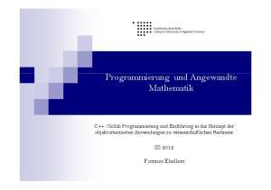 Programmierung und Angewandte Mathematik