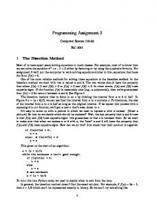 Programming Assignment 2