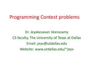 Programming Contest problems