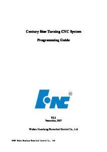 Programming Guide. V3.3 November, Wuhan Huazhong Numerical Control Co., Ltd
