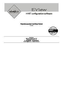 PROGRAMMING INSTRUCTIONS 1.x version